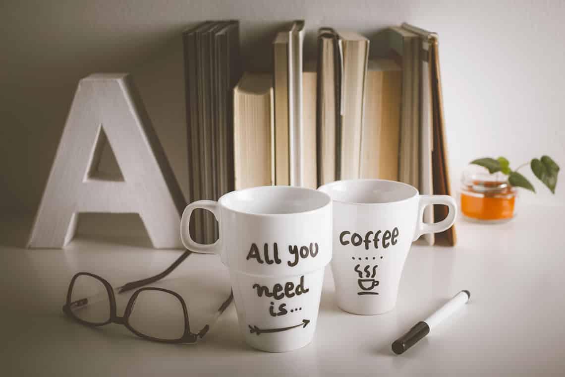 Tazas de café en inglés