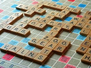 Juego de inglés Scrabble