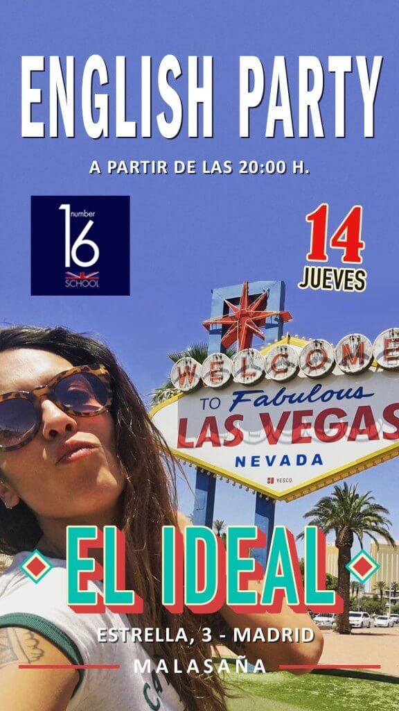 Actividade en inglés en Madrid Lorena Castell El Ideal