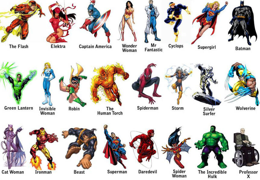 Nomes de Super-Heróis