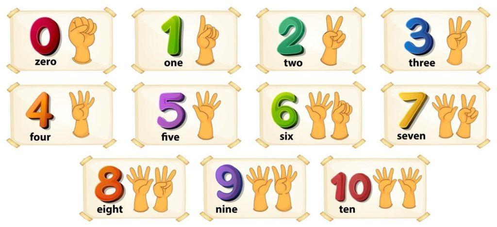 Los-números-en-inglés Academia de inglés Number 16 School