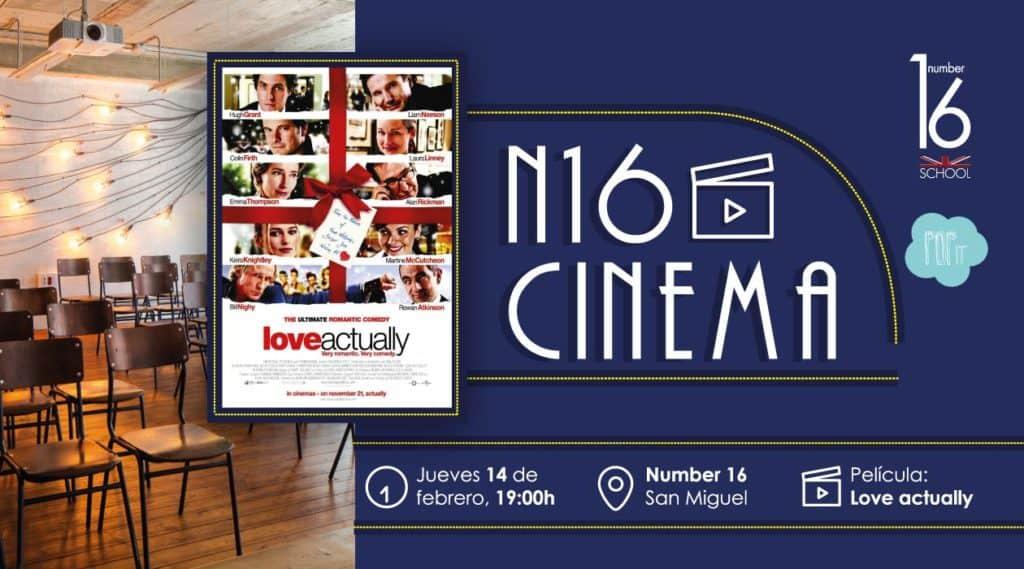 Cine en versión original en Zaragoza academia de inglés Number 16 School